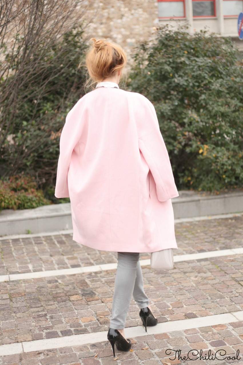 alessia milanese, thechilicool, fashion blog, fashion blogger,#tieupsstyle pink coat, lady dior bag