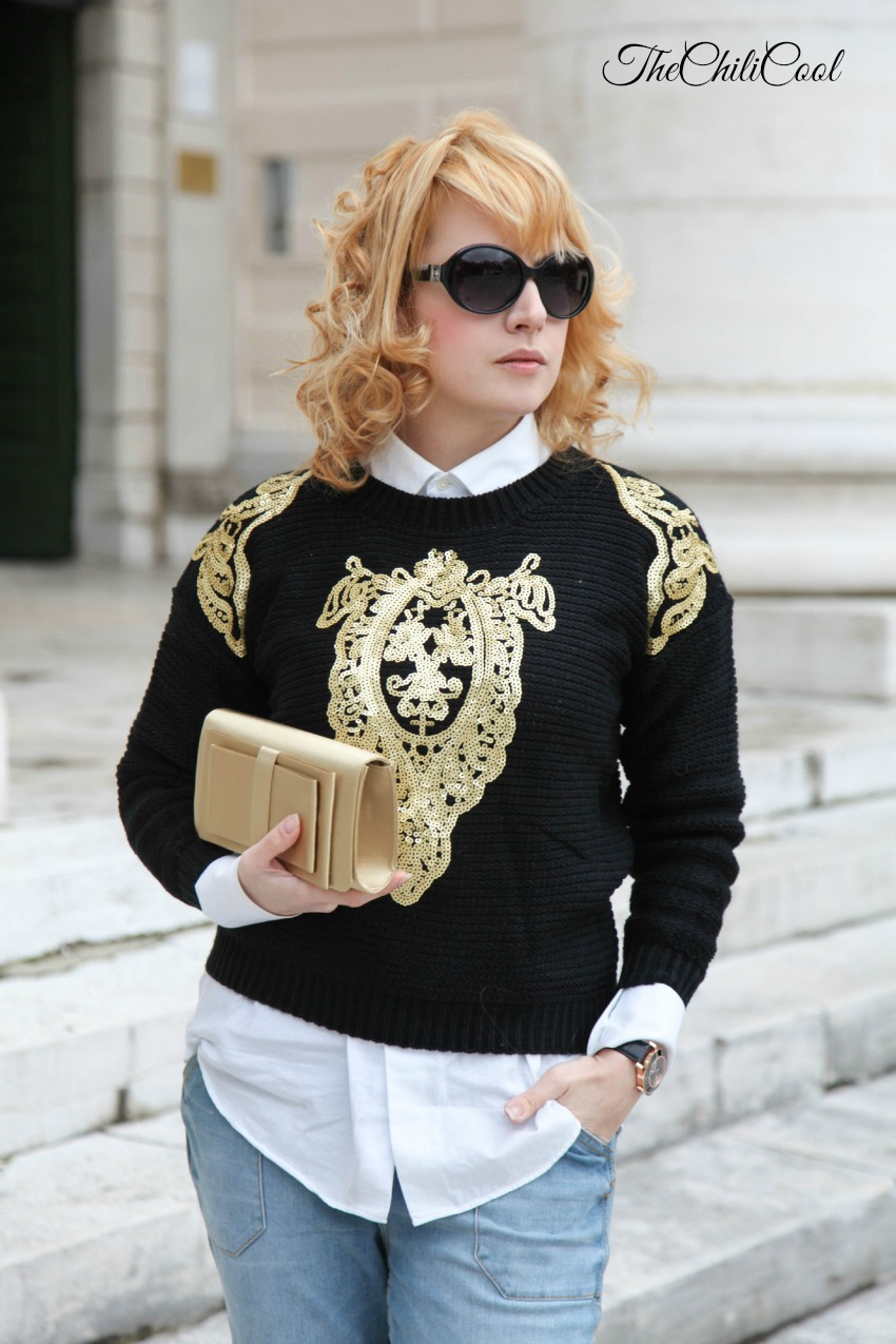 alessia milanese, thechilicool, fashion blog, fashion blogger,gold on black