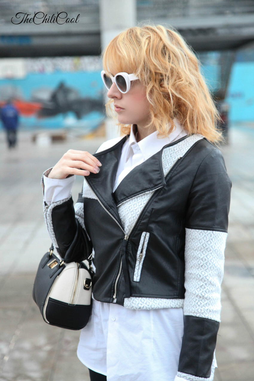 Black & White series #6: giacca in pellet bicolor, alessia milanese, thechilicool, fashion blog, fashion blogger
