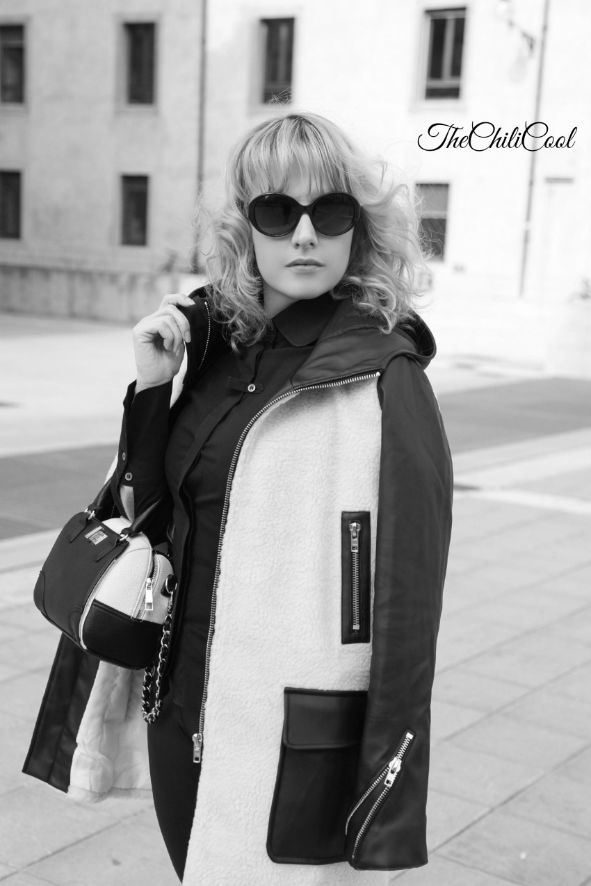 black and white series 8 furry coat, alessia milanese, thechilicool, fashion blog, fashion blogger