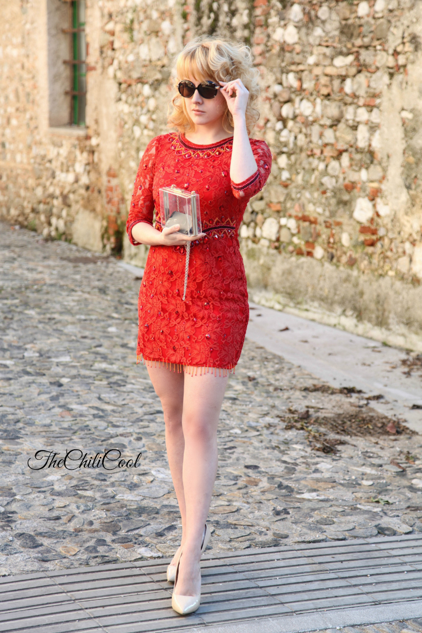 alessia milanese, thechilicool, fashion blog, fashion blogger, only red, la kore abiti