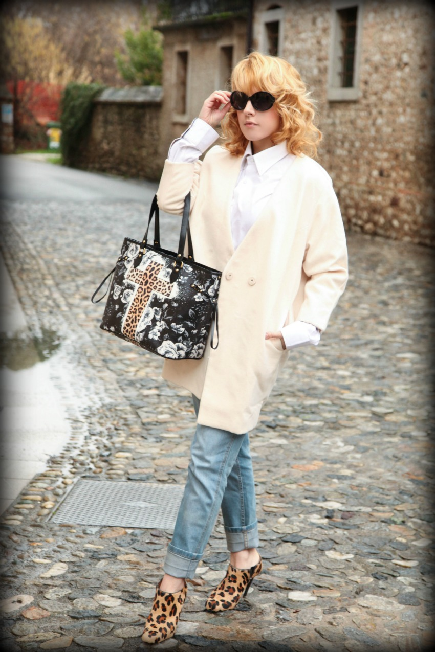 cappotto color panna e piccoli cenni di animalier, alessia milanese, thechilicool, fashion blog, fashion blogger