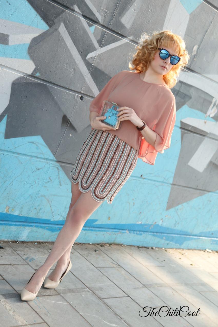 Ricami preziosi, linee sinuose ed il cielo azzurro, alessia milanese,thechilicool, fashion blog, fashion blogger