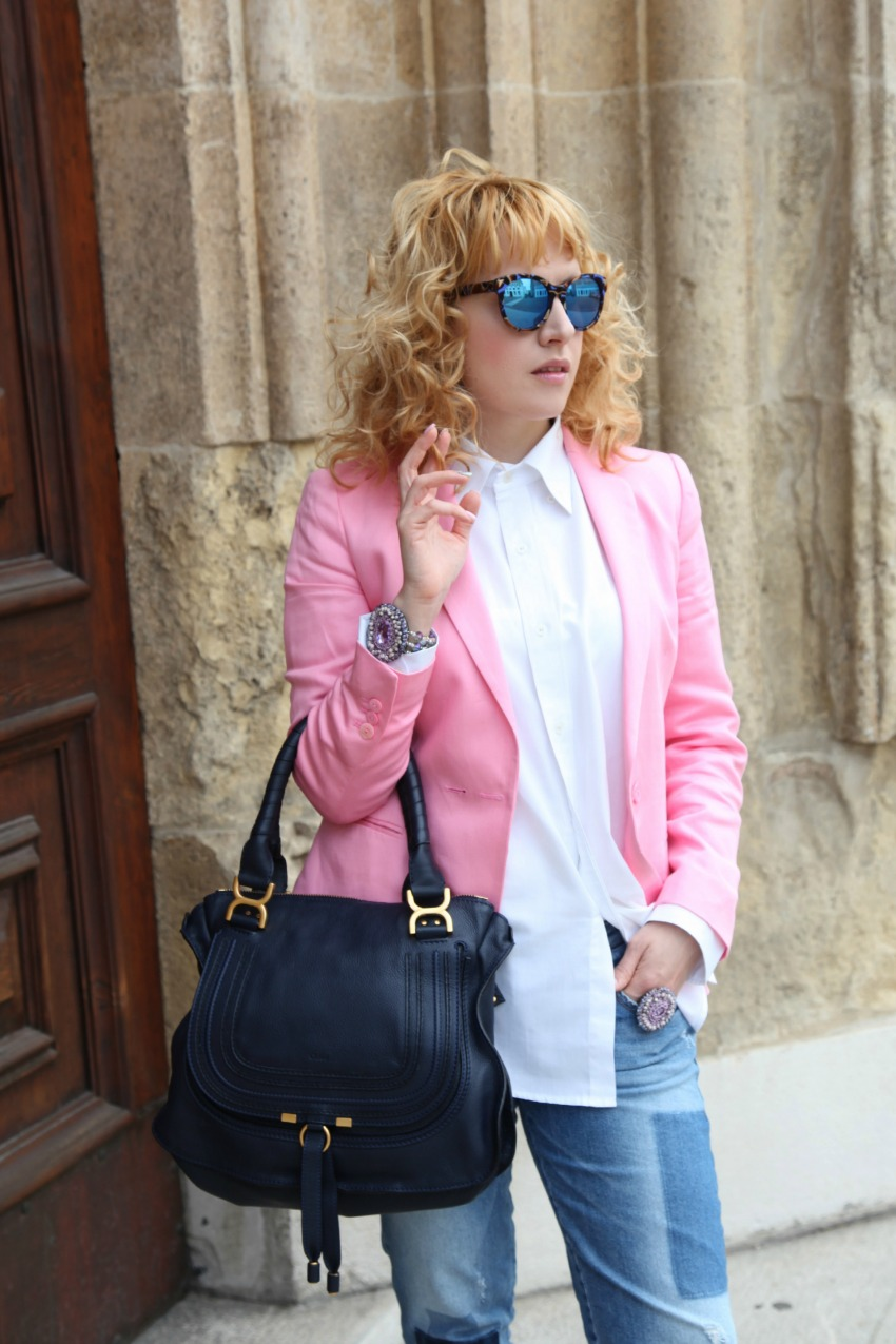alessia milanese, thechilicool, fashion blog, fashion blogger, pink mood, luca barra gioielli , marcie bag chloe