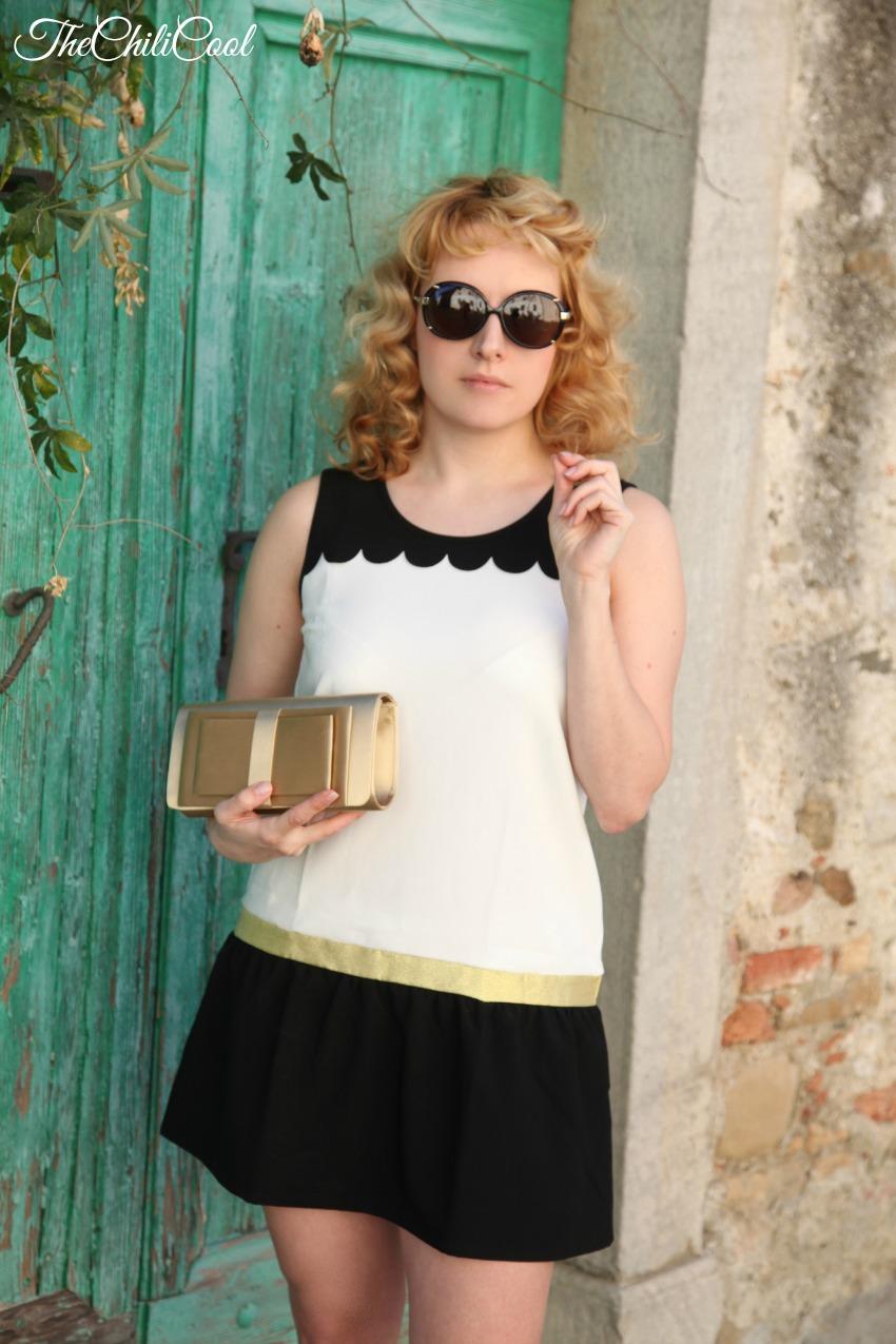 black & white series #11 la sottile line dorata, alessia milanese, thechilicool, fashion blog, fashion blogger