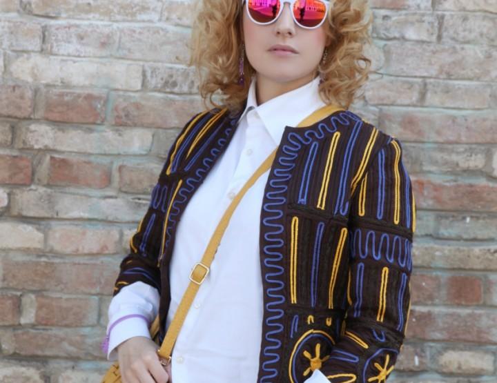 Giacca vintage Cavalli e mirror sunglasses