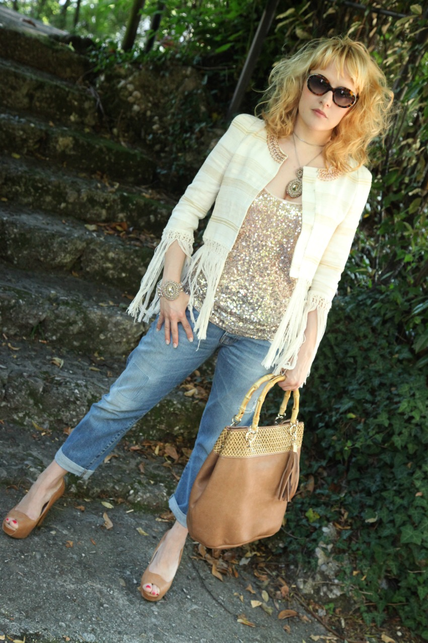 glitter e frange, alessia milanese, thechilicool, fashion blg, fashion blogger, patrizia pepe giacca