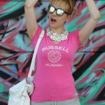 sporty in pink, alessia milanese, thechilicool, fashion blog, fashion blogger, ottaviani bijoux , russell athletic