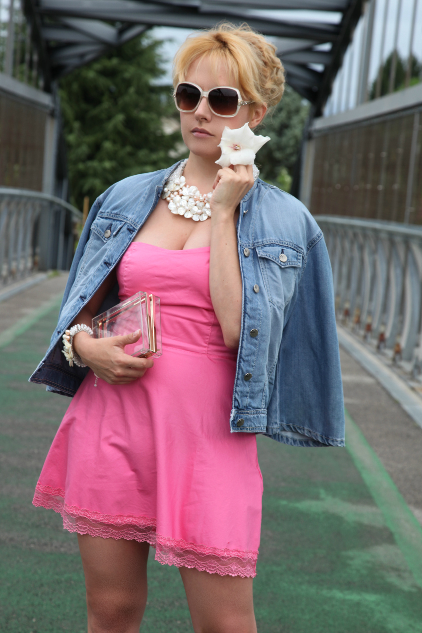 Pink dress, alessia milanese, thechilicool, fashion blog, fashion blogger, ottaviani bijoux
