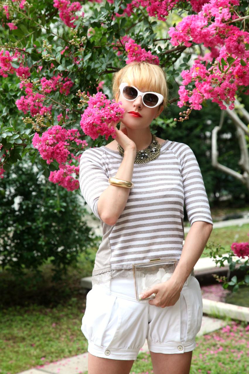 stripes among flowers, alessia milanese, thechilicol, fashion blog, fashion blogger, risskio