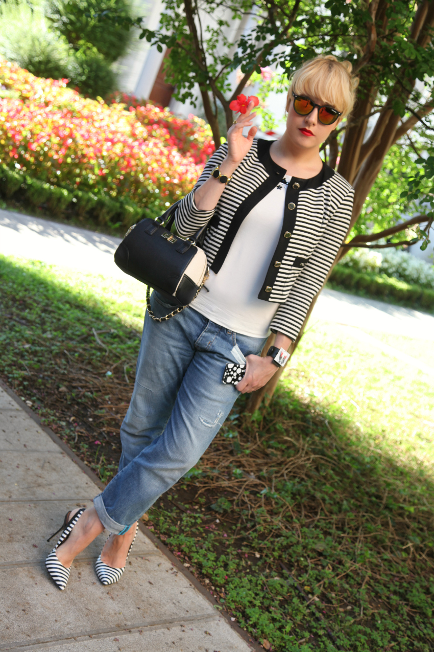 striped jacket, alessia milanese, thechilicool, fashion blog, fashion blogger, aldo shoes