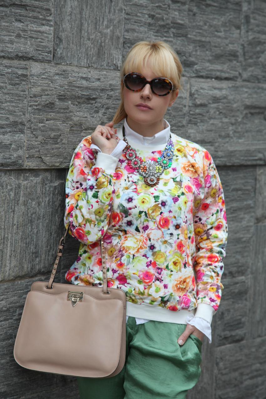 Fiori, felicità e sogni.alessia milanese, thechilicool, fashion blog, fashion blogger, valentino rockstud bag