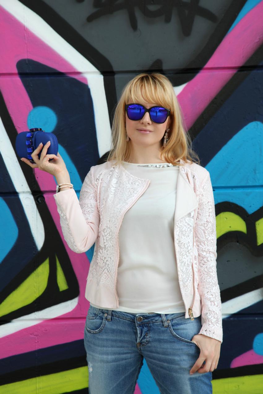 Lace&royal blue, alessia milanese, thechilicool, fashion blgo, fashion blogger, pinko jacket