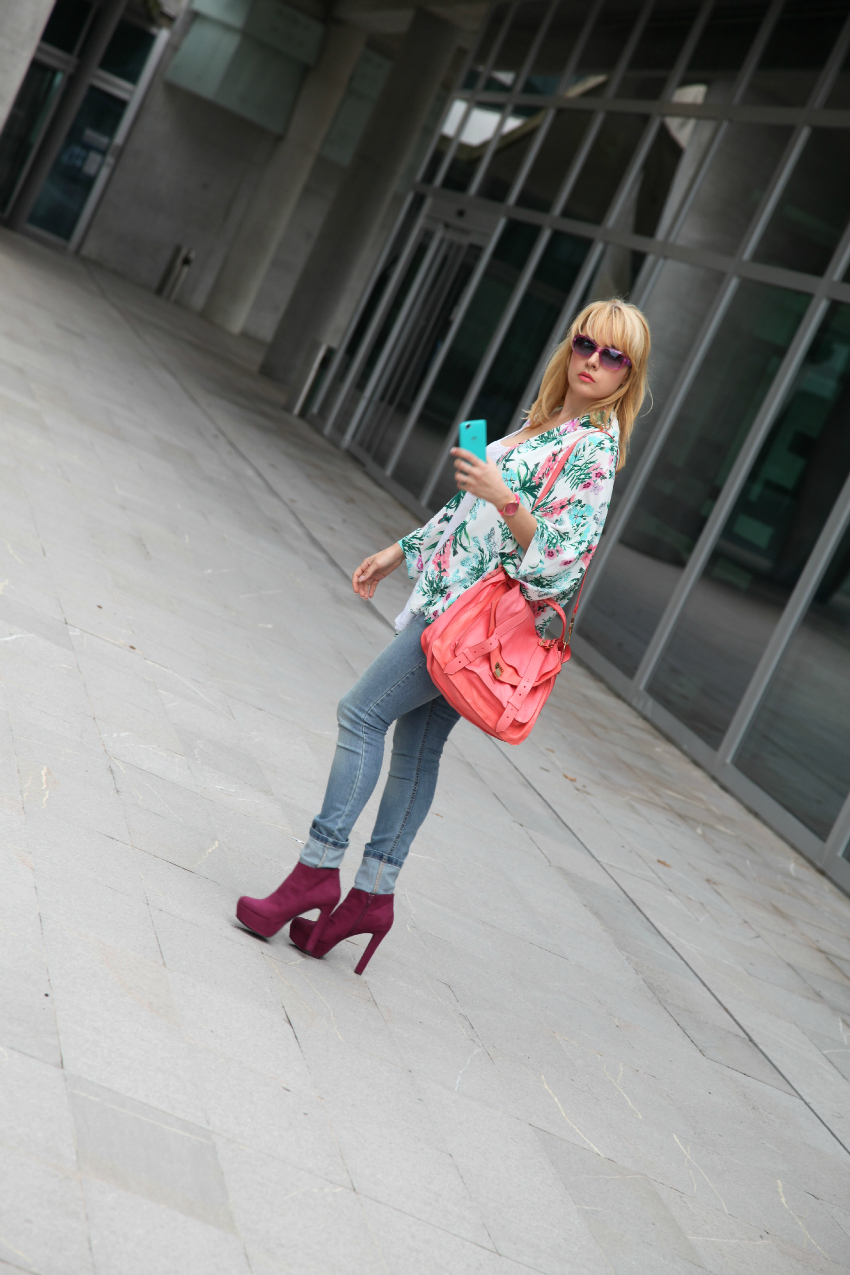 turquoise & pink, alessia milanese, thechilicool, fashion blog, fashion blogger, proenza schouler ps1 bag