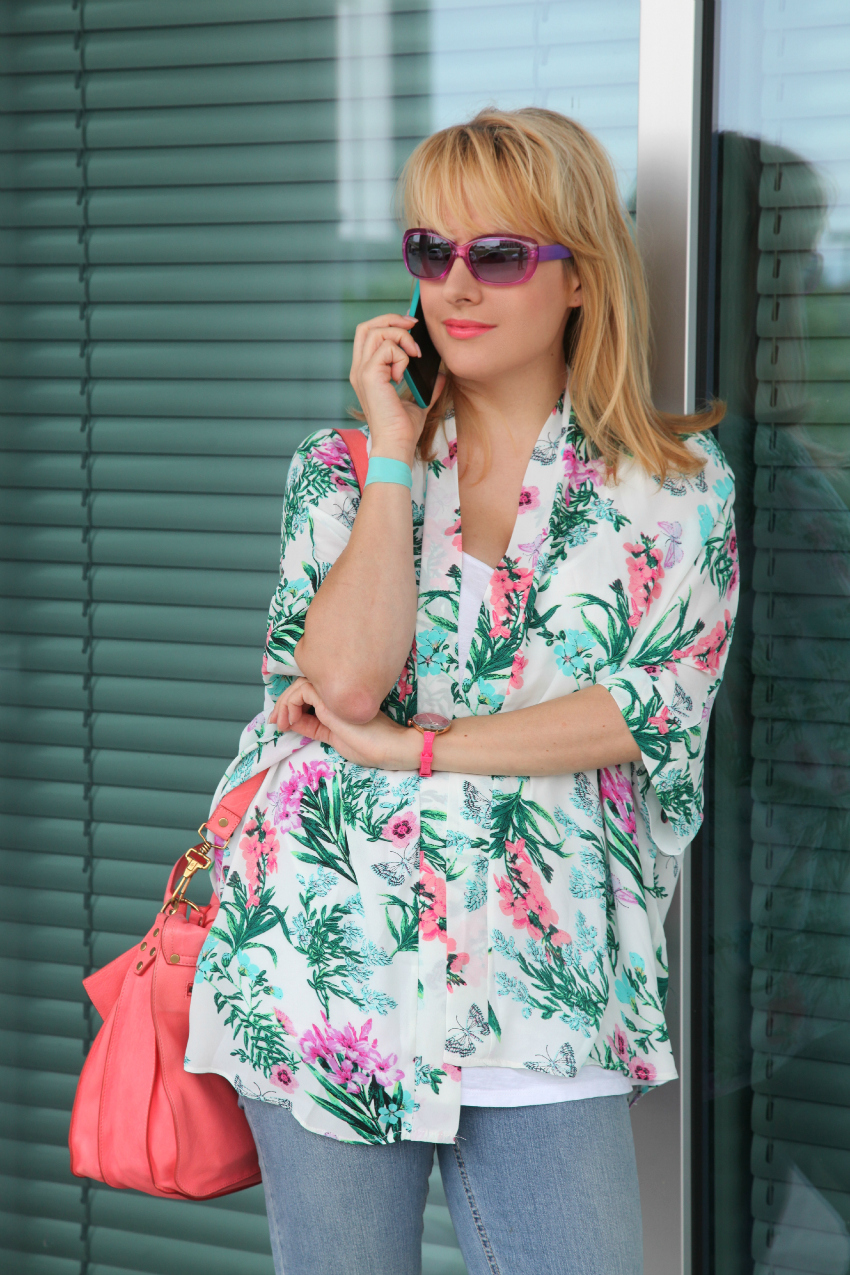 Turquoise & coral pink, alessia milanese, thechilicool, fashion blog, fashion blogger