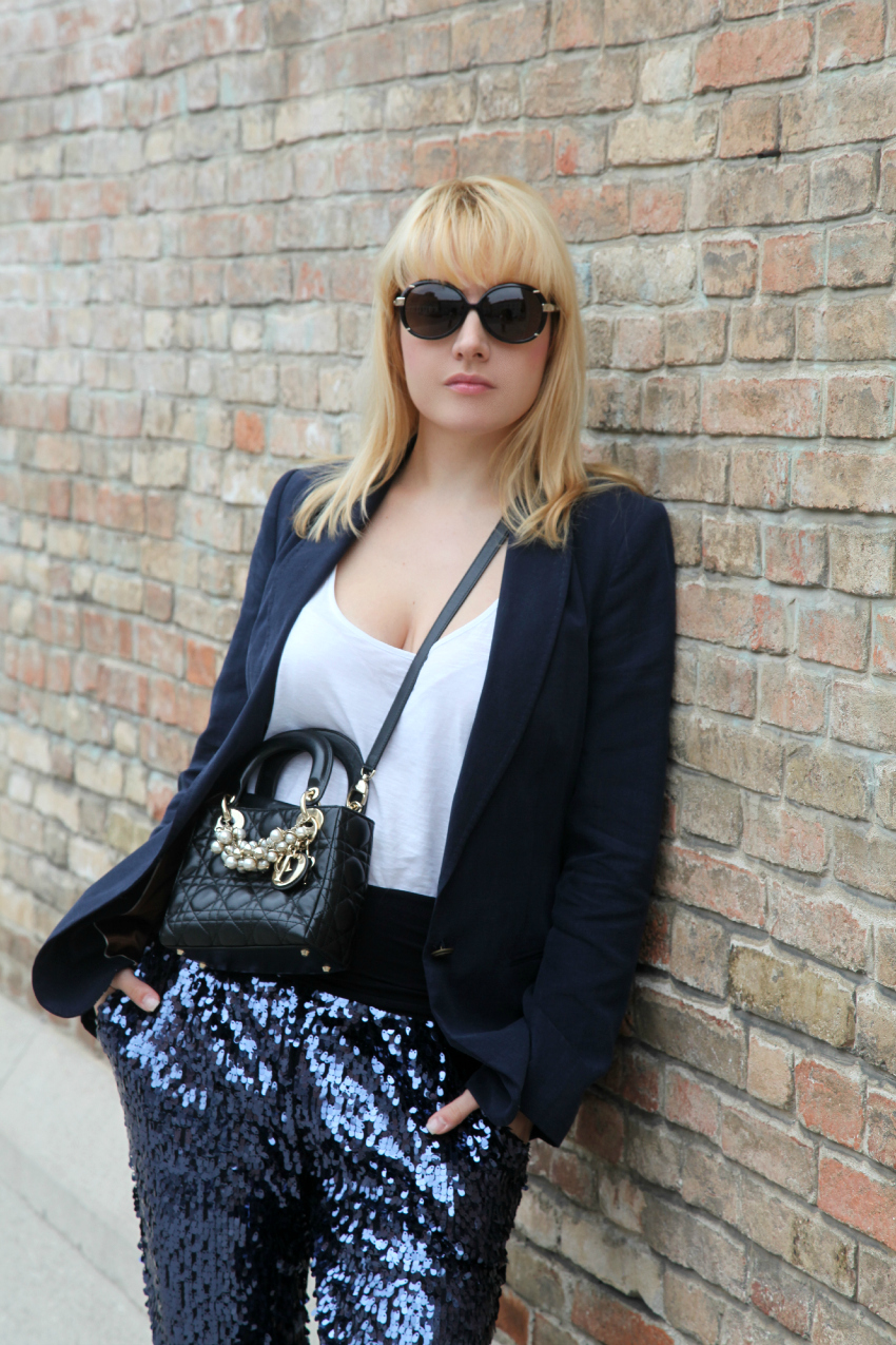 All blue, alessia milanese, thechilicool, fashion blog italiani, fashion blogger italiane, lady dior bag
