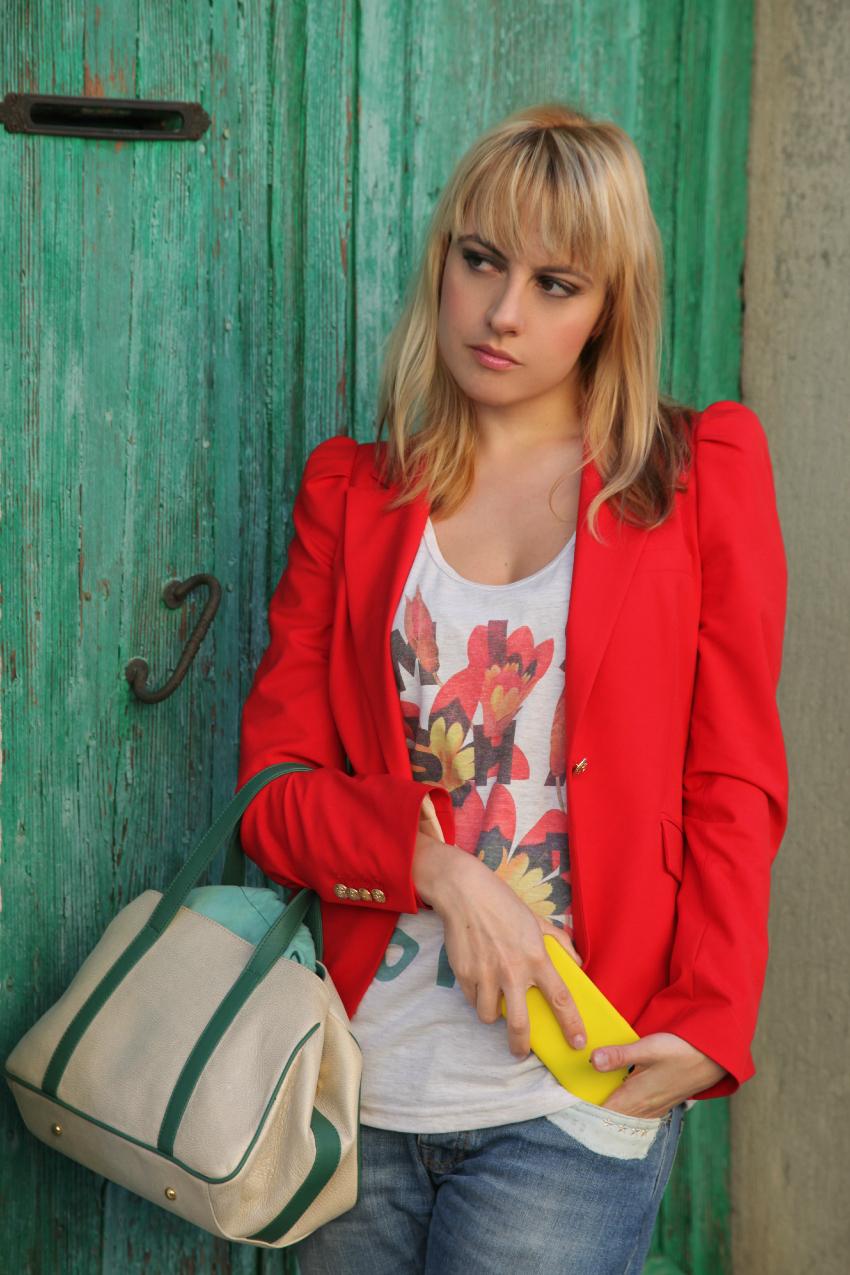 Rosso ed i colori dell'autunno, alessia milanese, thechilicool, fashion blog, fashion blogger, bear bag