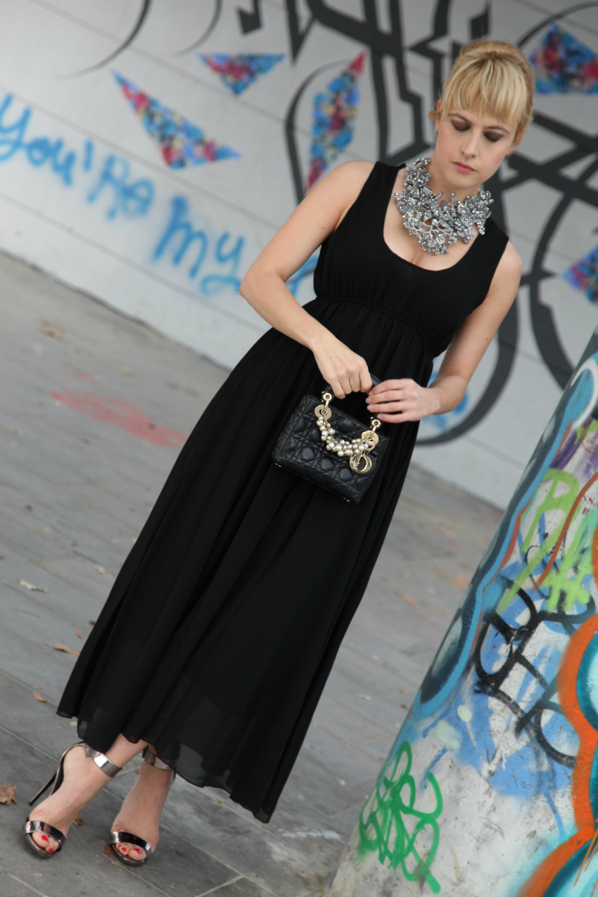Black dress, alessia milanese, thechilicool, fashion blog, fashion blogger, lady dior