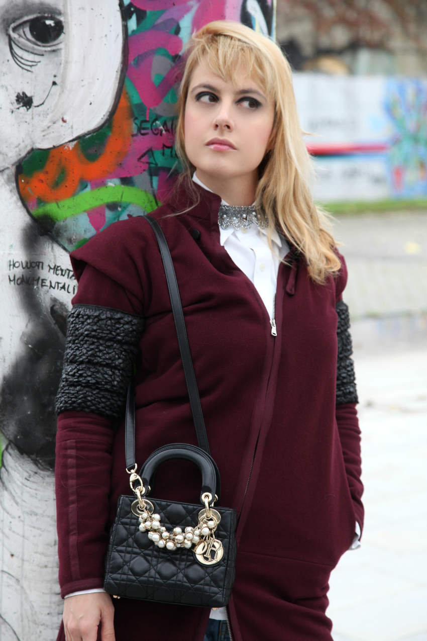 Casual Tuesday: burgundy coat, alessia milanese, thechilicool, fashion blog, fashion blogger, lady dior bag