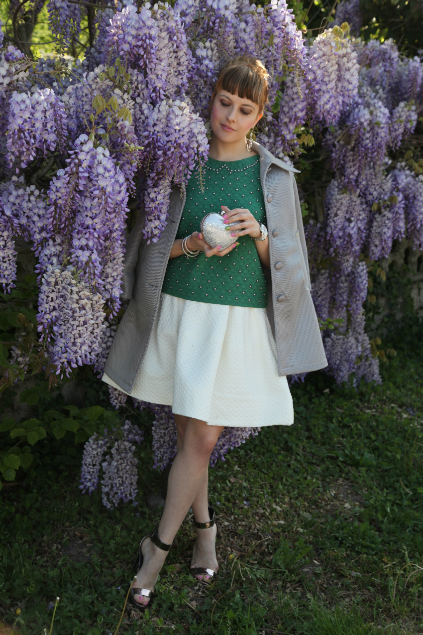 Verde, bianco ed un glicine in fiore, alessia milanese, thechilicool, fashion blog, fashion blogger, princesse metropolitaine