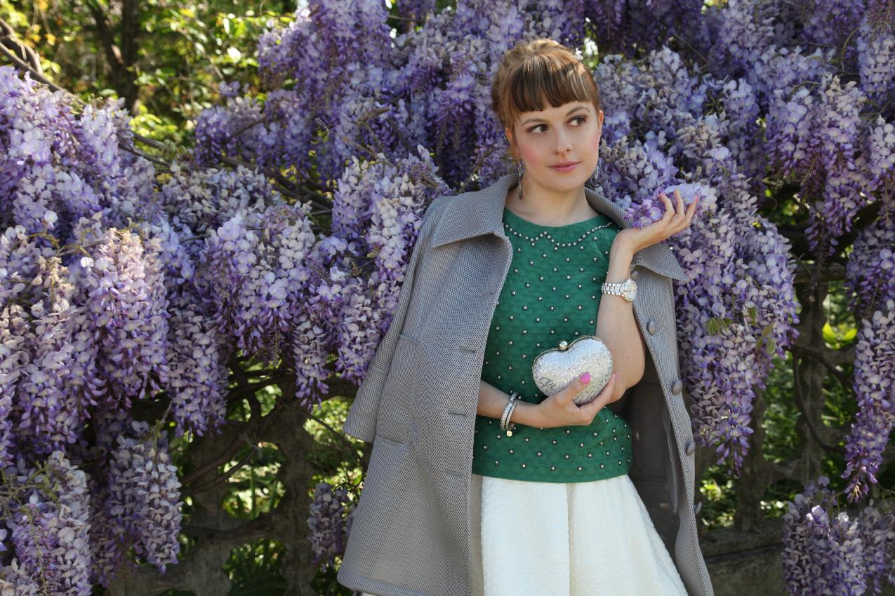 Verde, bianco ed un glicine in fiore, alessia milanese, thechilicool, fashion blog, fashion blogger, princesse metropolitaine