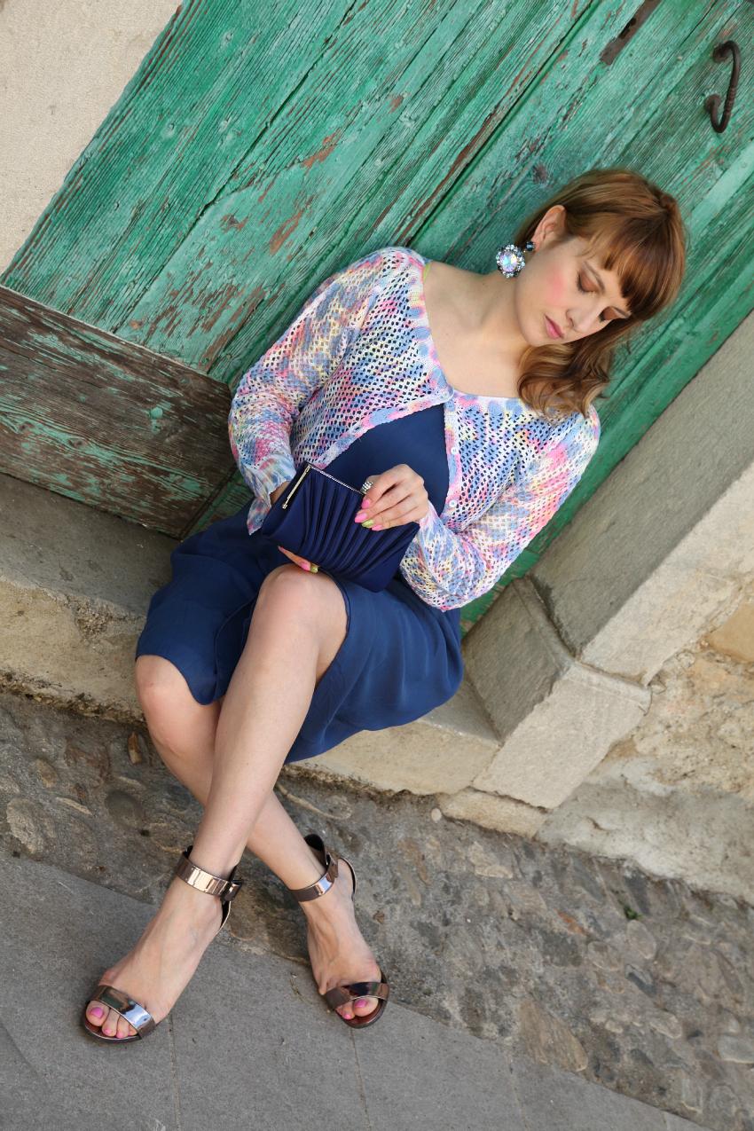 Il sole fra le nubi ed un abito blu, alessia milanese, thechilicool, fashion blog, fashion blogger