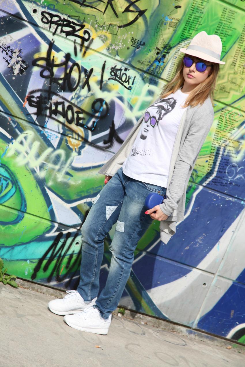 Urban metropolitano: di blu e d'azzurro, alessia milanese, thechilicool, fashion blog, fashion blogger, asics gel lyte III, bonprix jeans, risskio