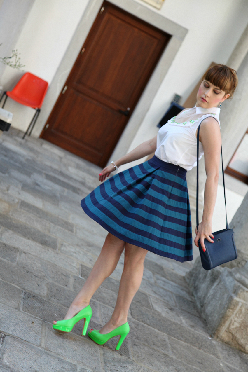 Flowers&stripes - Monday edition, alessia milanese, thechilicool, fashion blog, fashion blogger, princesse metropolitaine , athena gioielli