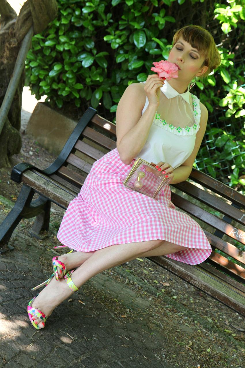 La magia che si fa amore. Fra quadretti vichy e fiori verdi., alessia milanese, thechilicool, fashion blog, fashion blogger, bonprix, coi coi jewels