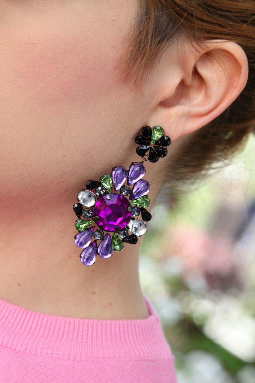 pink on flowers, alessia milanese, thechilicool, fashion blog, fashion blogger, mercantia  bijoux