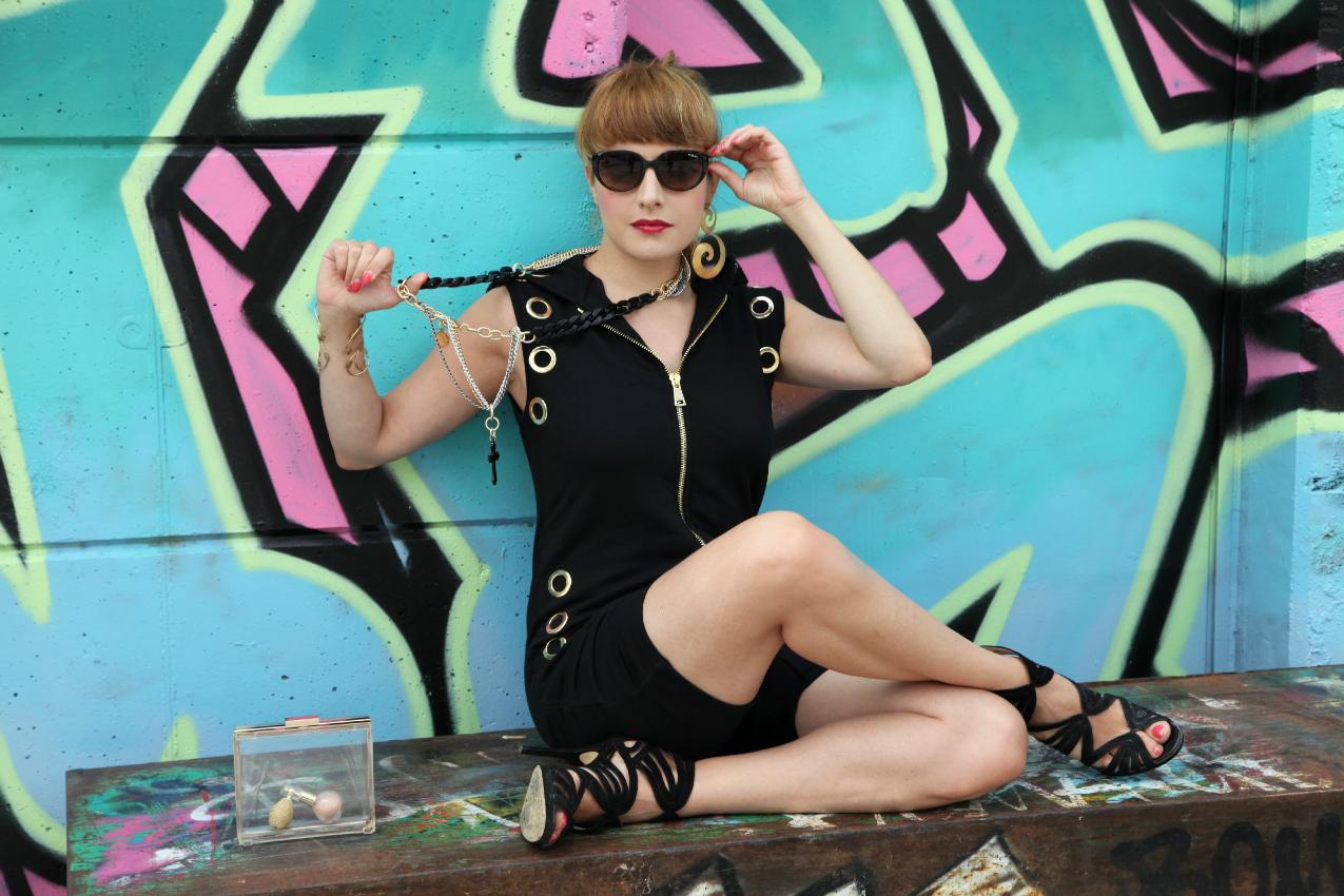 gangsta, alessia milanese, thechilicool, fashion blog, fashion blogger, qsixtyone jumpsuit
