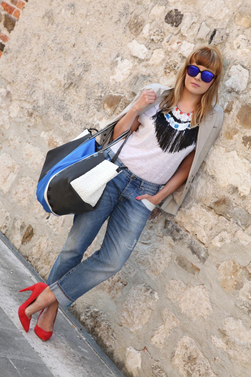 Fringes & royal blue details, alessia milanese, thechilicool, fashion blog, fashion blogger, infra borse e accessori