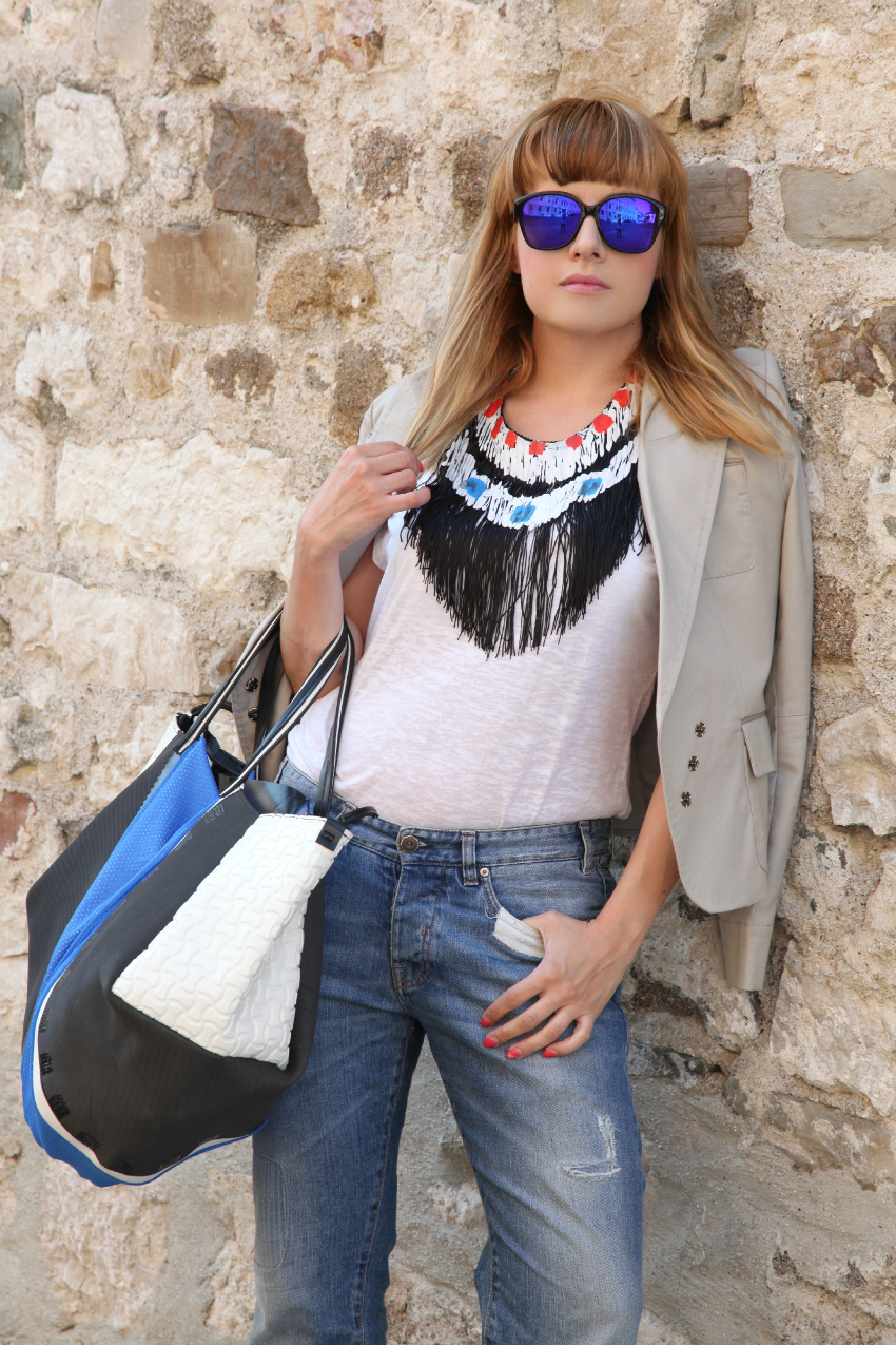 Fringes & royal blue details, alessia milanese, thechilicool, fashion blog, fashion blogger, infra borse e accessori