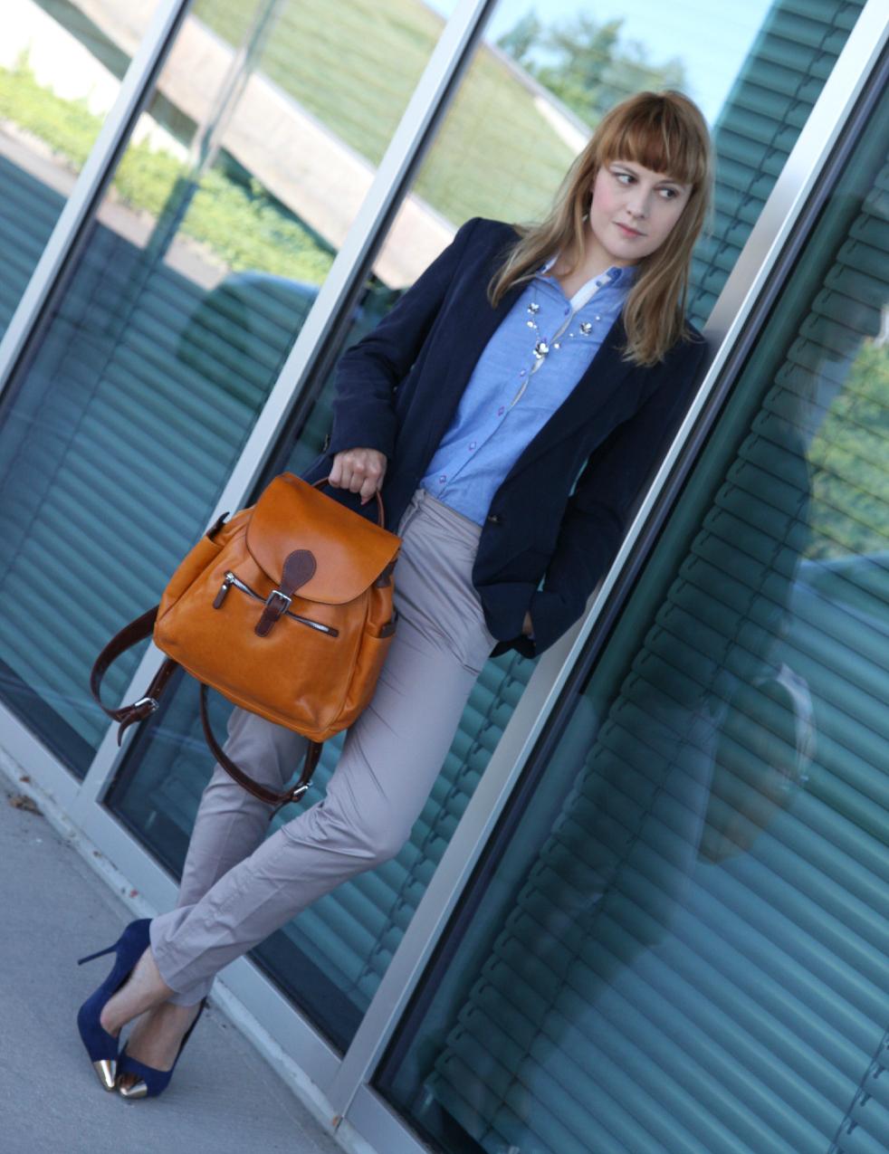 Una camicia azzurra, parole e silenzi, alessia milanese, thechilicool, fashion blog, fashion blogger, cuoieria fiorentina