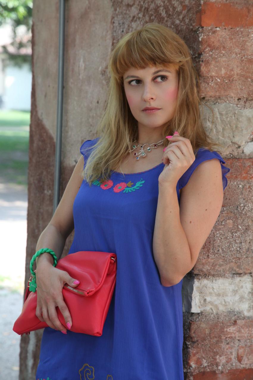 Fiori rossi su tela blu e sogni in divenire, alessia milanese, thechilicool, fashion blog, fashion blogger , showroomprive