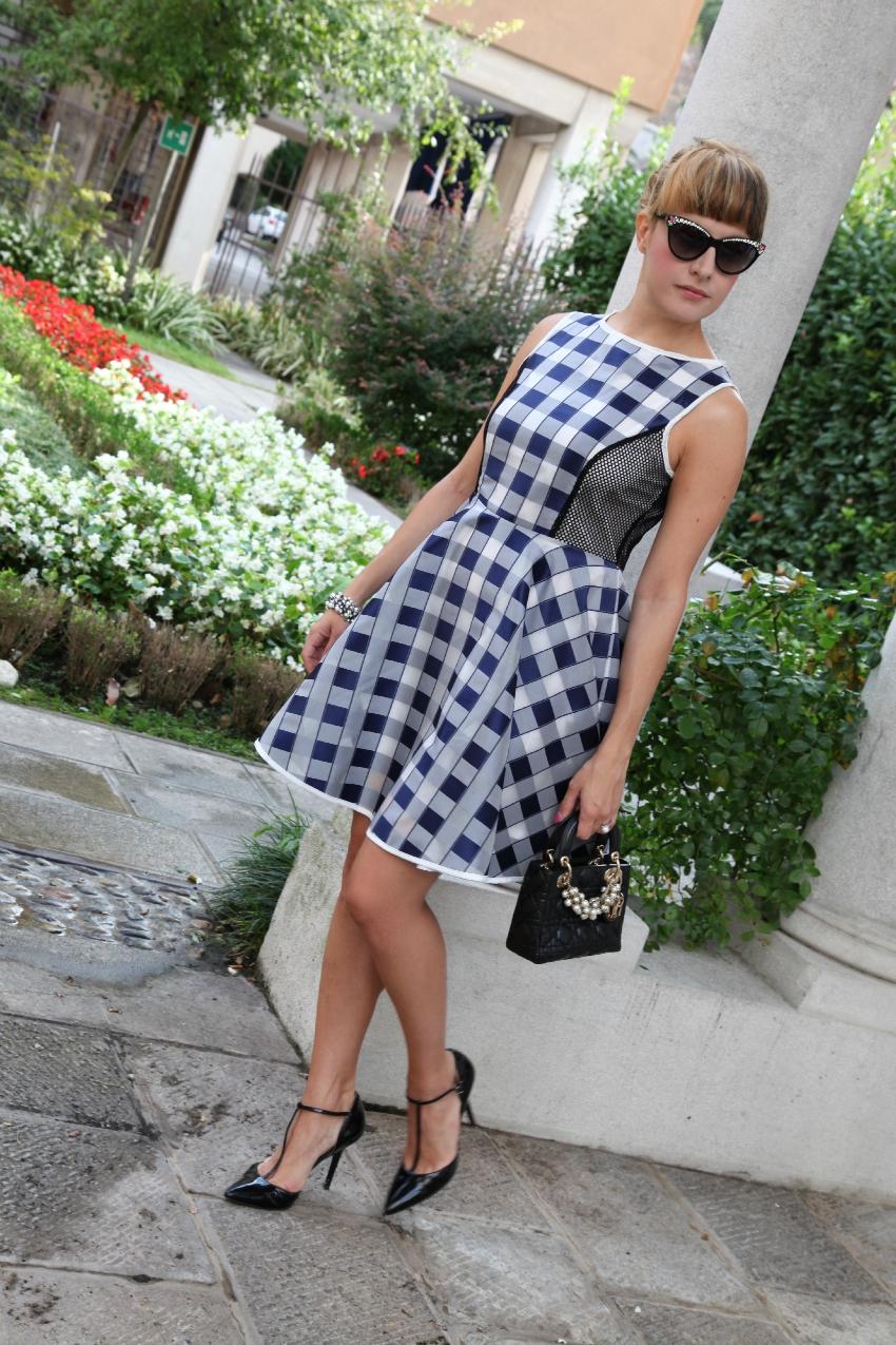Quadri e ispirazioni - chic outfit del Martedì, alessia milanese, thechilicool, fashion blog, fashion blogger, lady dior bag