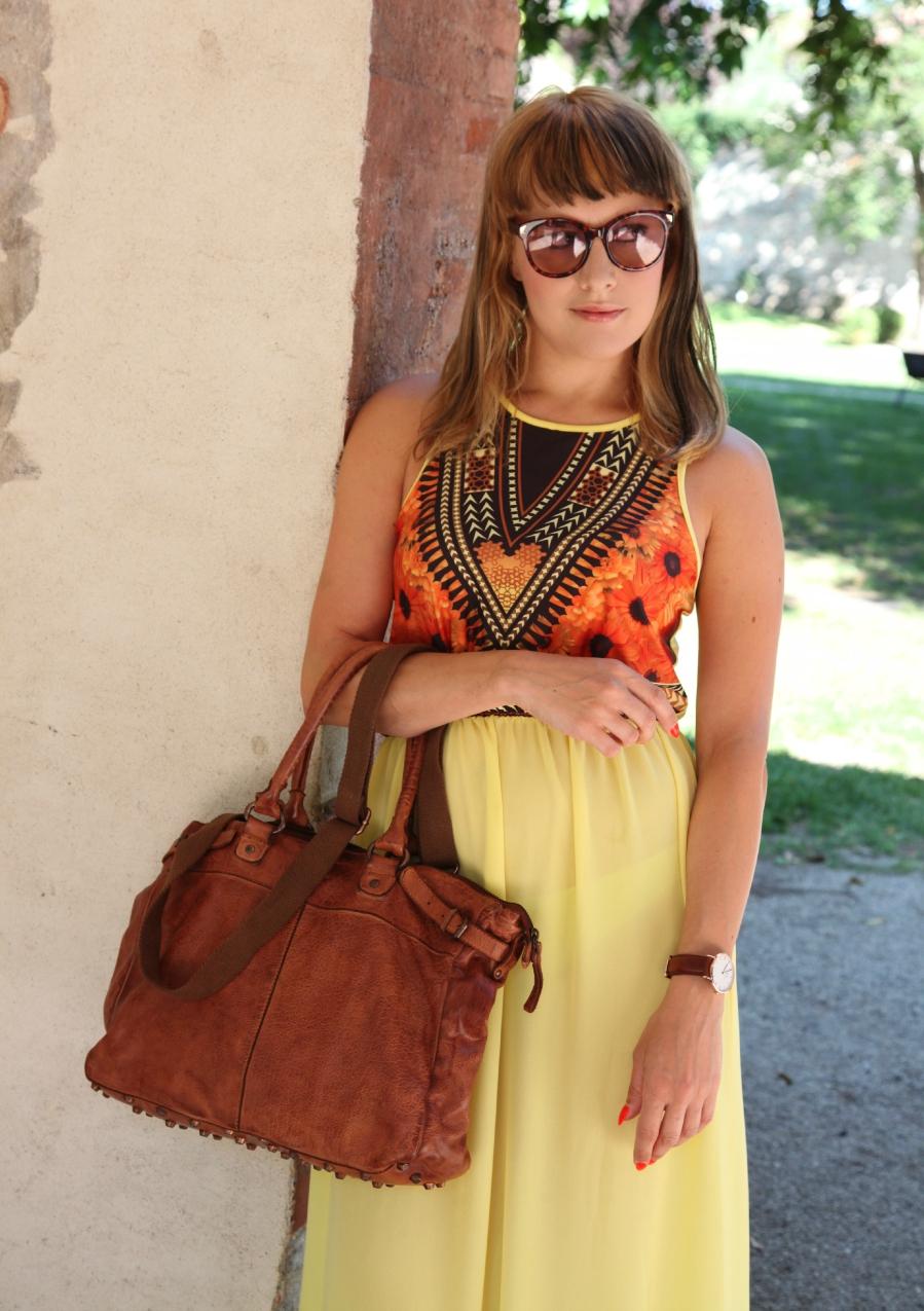 Orizzonti che si vestono di giallo e abiti romantici, alessia milanese, thechilicool, fashion blog, fashion blogger, dudu bags