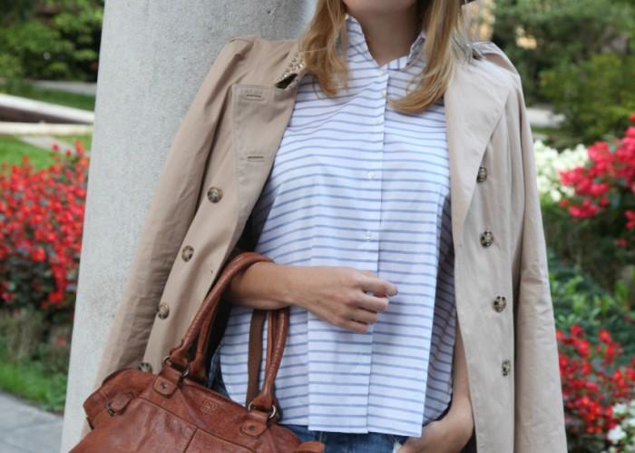 Autunno, attese e camicie a righe, alessia milanese, thechilicool, fashion blog, fashion blogger, dudu bags, nara camicie