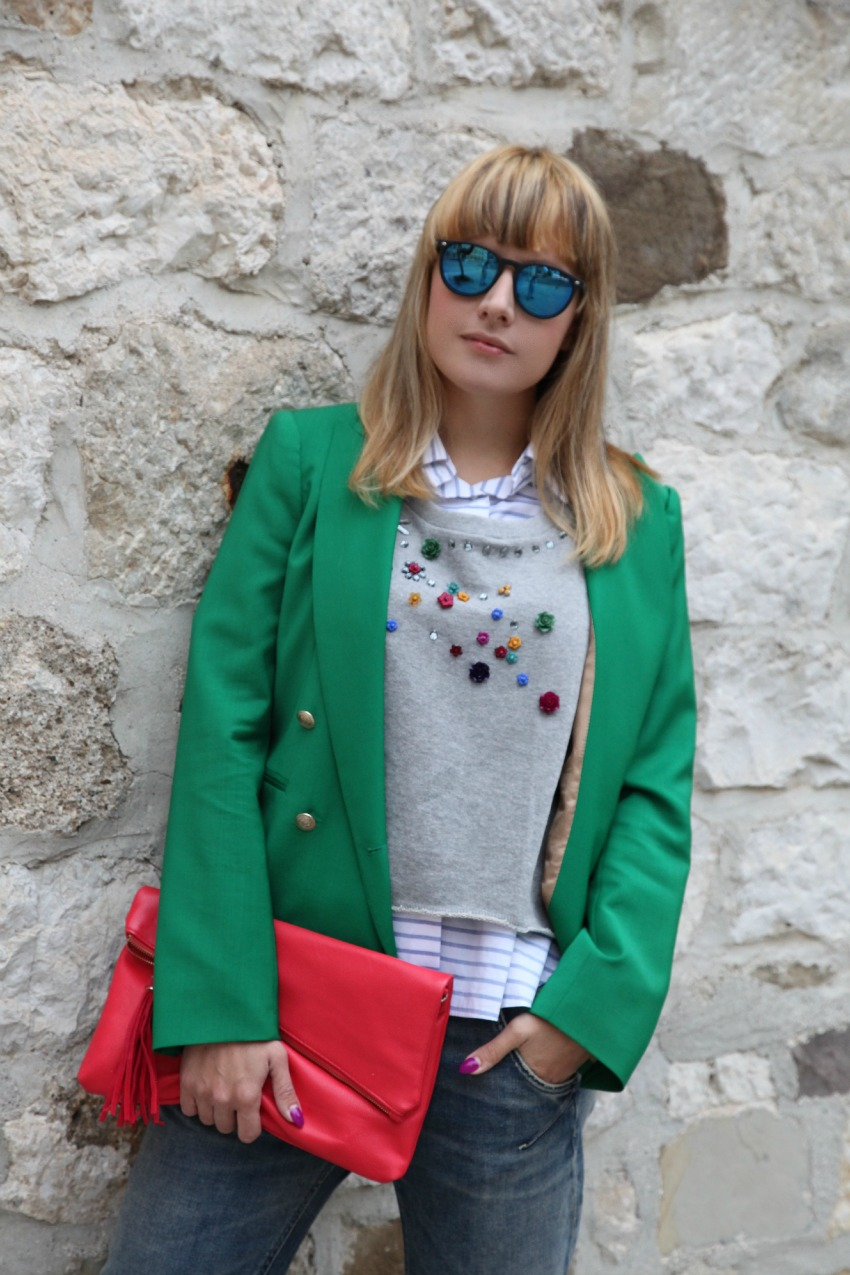 Lenti azzurre come gocce di turchese ed un blazer sulle spalle, alessia milanese, thechilicool, fashion blog, fashion blogger