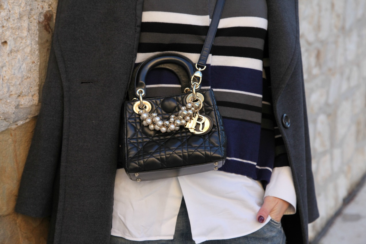 Righe, prospettive e la magia in un respiro, alessia milanese, thechilicool, fashion blog, fashion blogger , lady dior bag