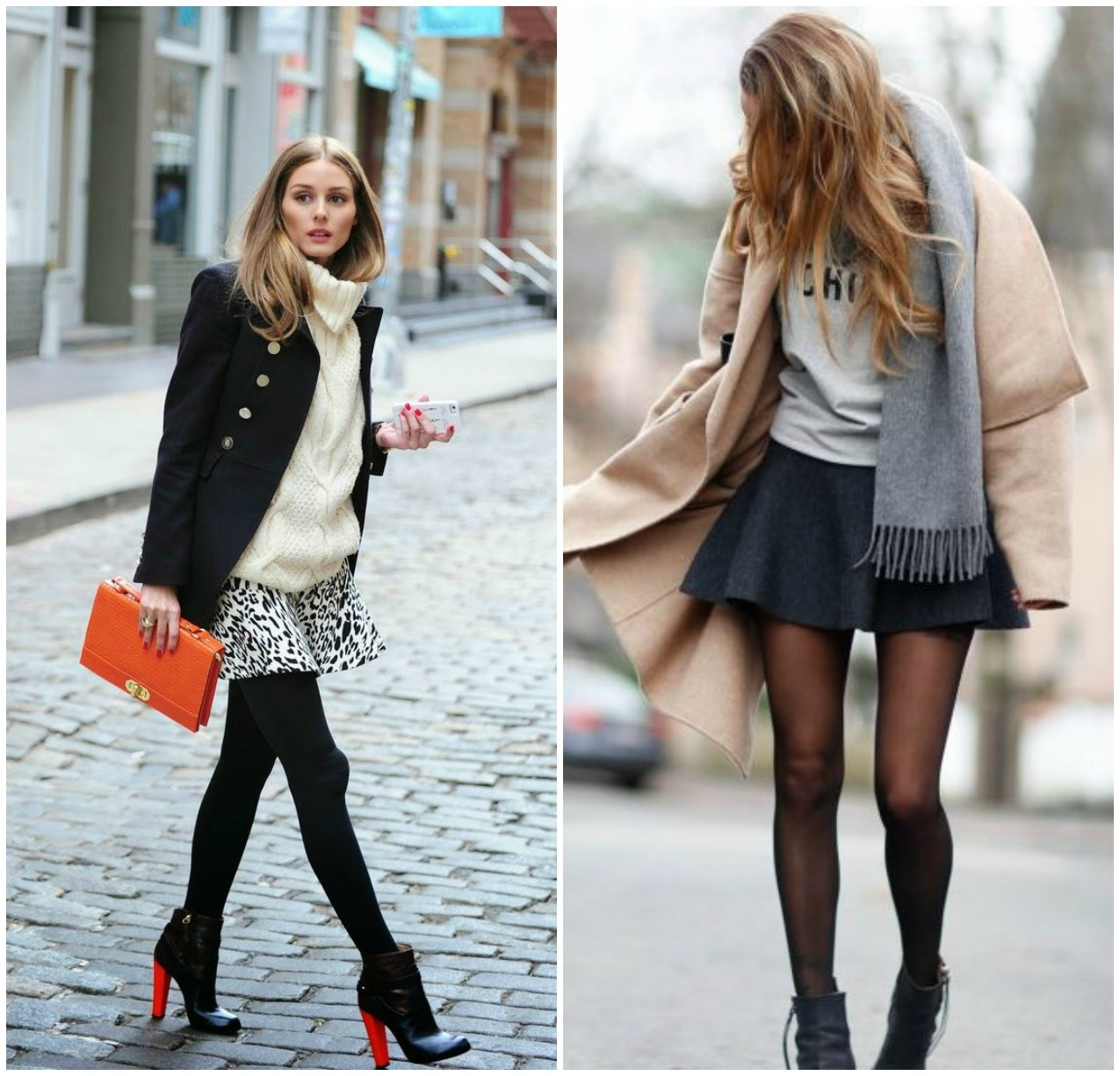 Winter outfits with skirts tumblr