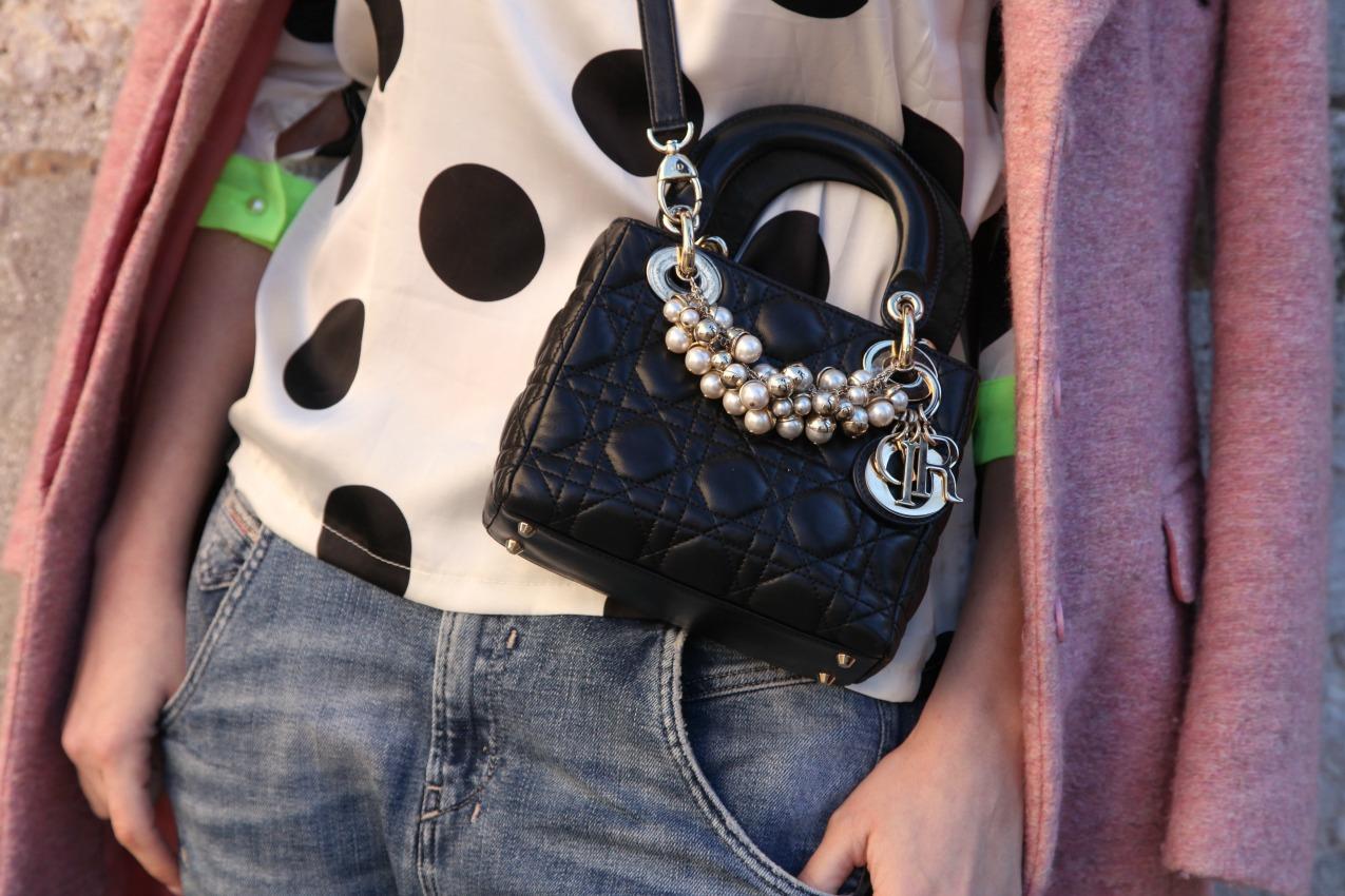 Rosa, pois e nubi che corrono, alessia milanese, thechilicool, fashion blog, fashion blogger , simone castelletti scarpe, lady dior bag