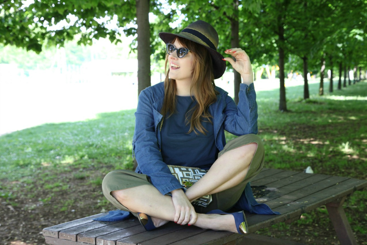 Un passo dopo l'altro. Blu ed il sole, alessia milanese, thechilicool, fashion blog, fashion blogger, risskio,, jenrigo borse