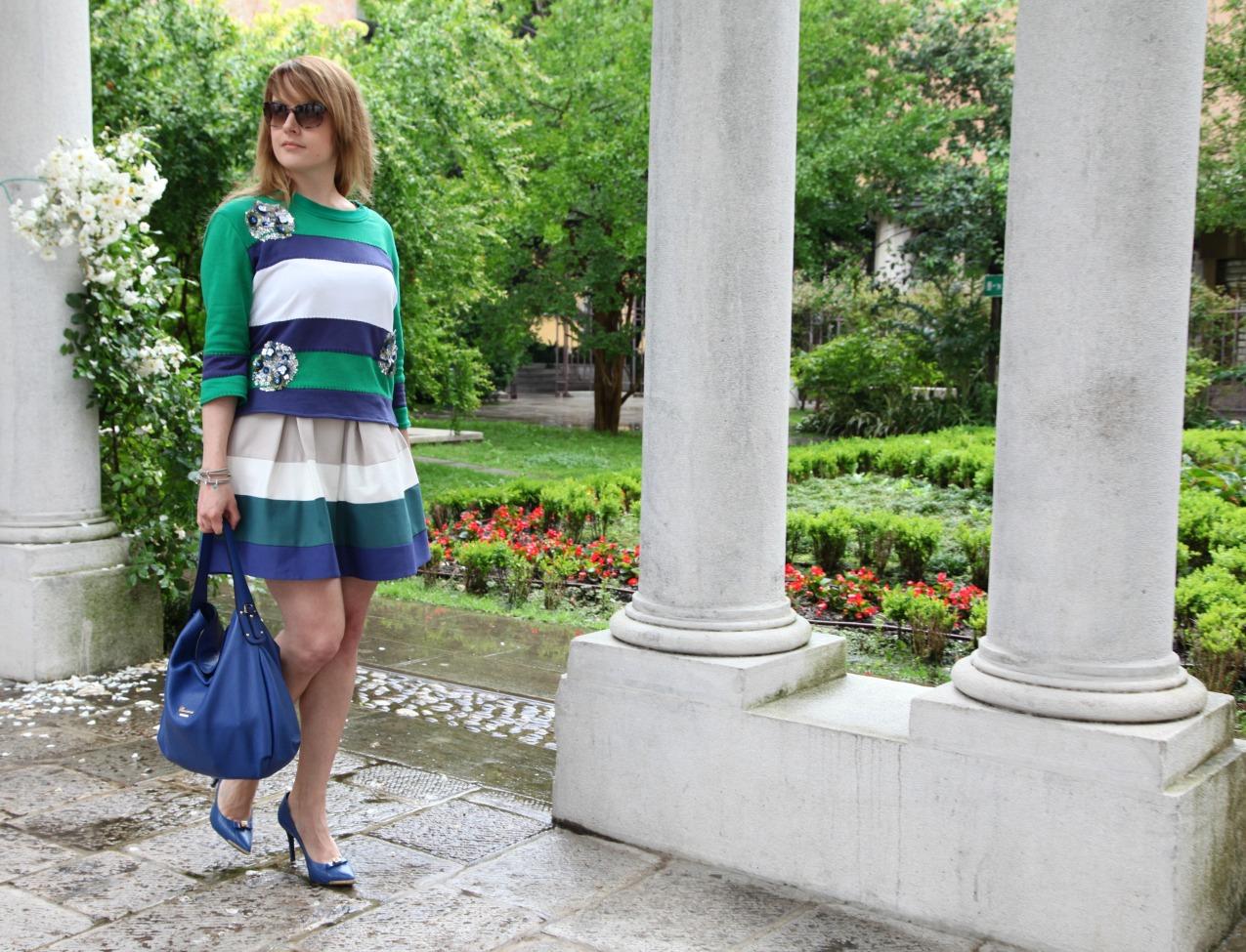 Come fosse. Alchimia di un sogno a tinte verdi e blu, alessia milanese, thechilicool, fashion blog, fashion blogger, cuoieria fiorentina, princesse metropolitaine
