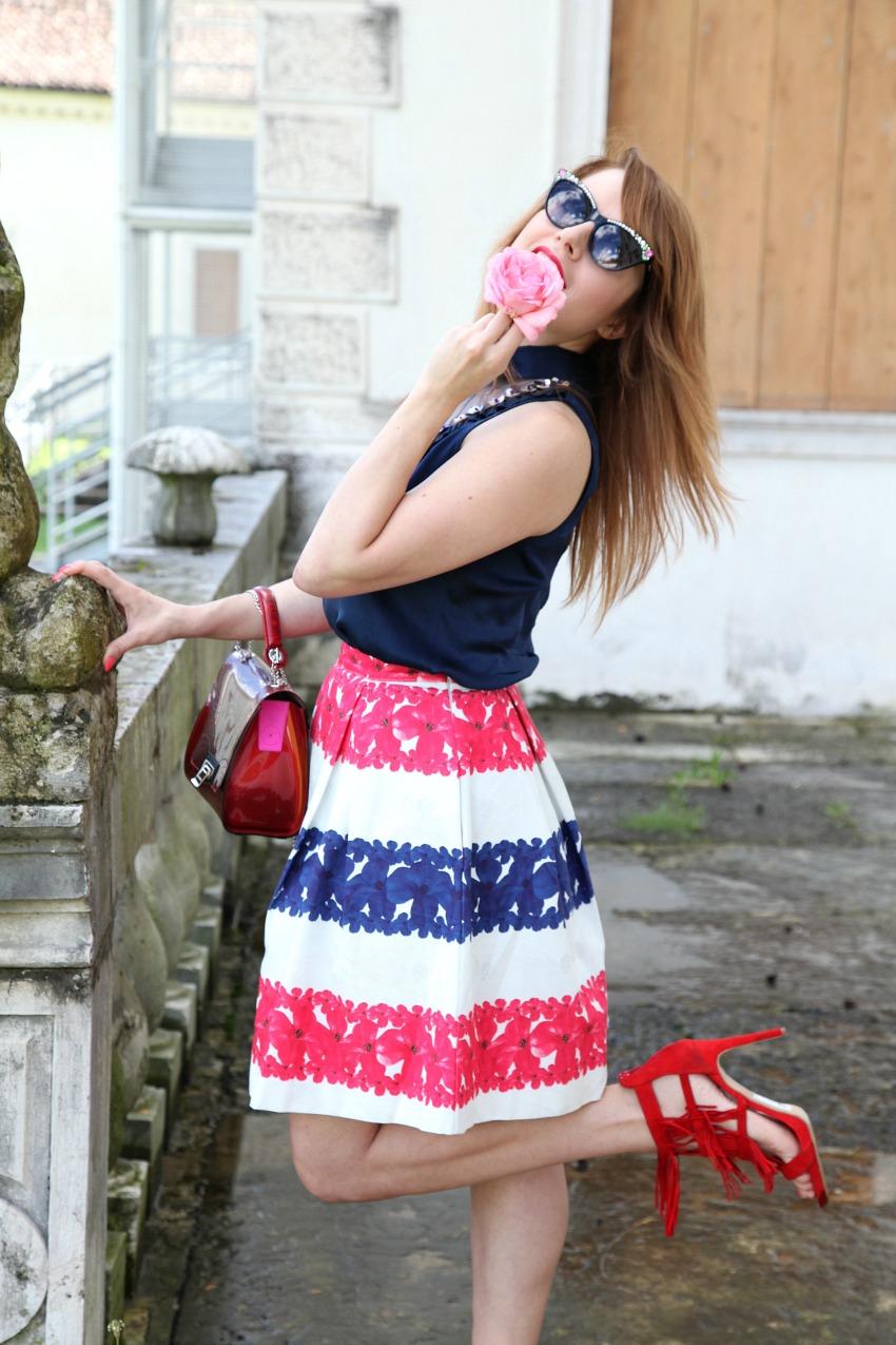 Una borsa color ciliegia. Il verde, una blusa ed un film, alessia milanese, thechilicool, fashion blog, fashion blogger , braintropy