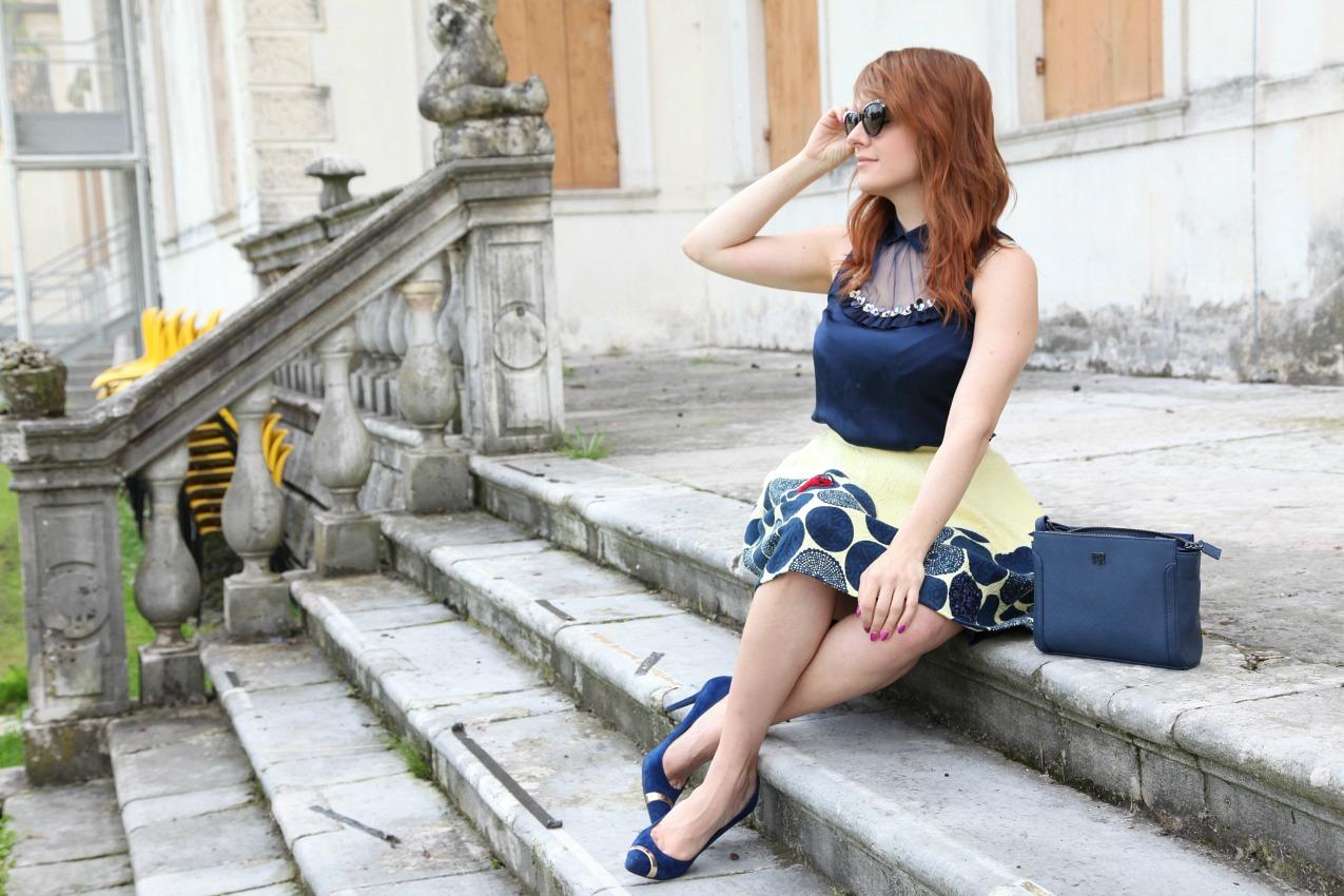 Orizzonti, gonne dal sapore principesco ed il blu, alessia milanese, thechilicool, fashion blog, fashion blogger, princesse metropolitaine