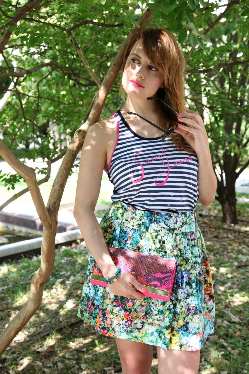 Mare, righe e fiori in un lunedì di Luglio, alessia milanese, thechilicool, fashion blog, fashion blogger, sweet years