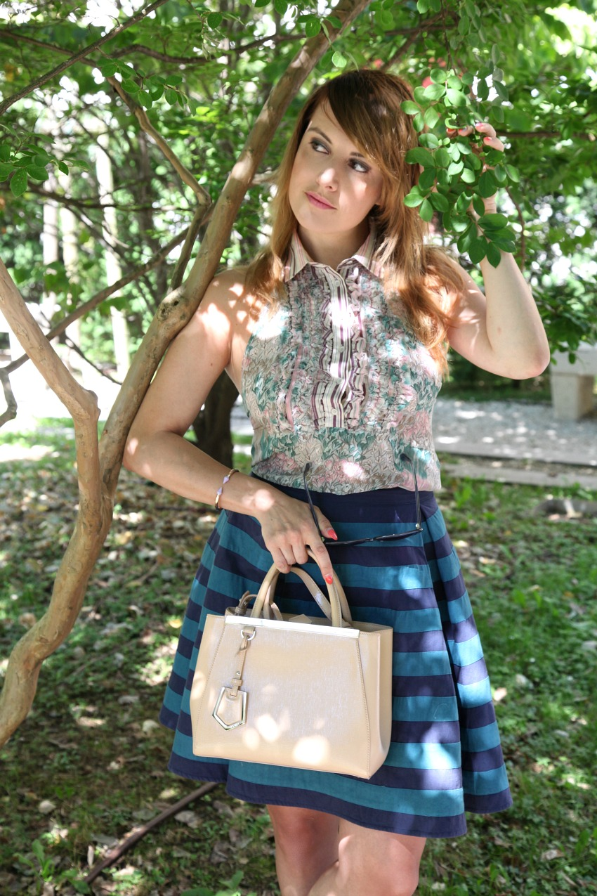 Tempo, giochi di luce e fiori, alessia milanese, thechilicool, fashion blog, fashion blogger, fendi 2jours bag
