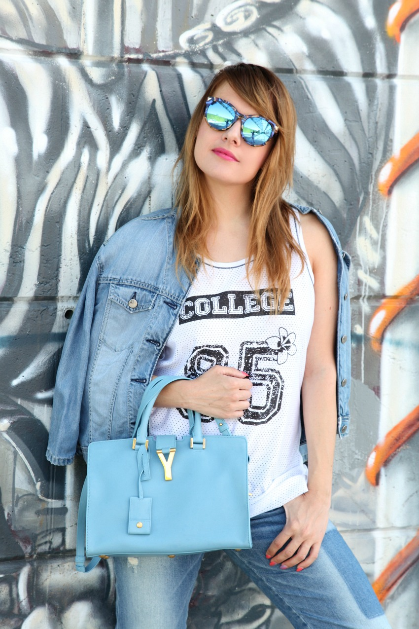 Come quando..cieli e azzurro, alessia milanese, thechilicool, fashion blog, fashion blogger, angelo bervicato shoes , ysl bag