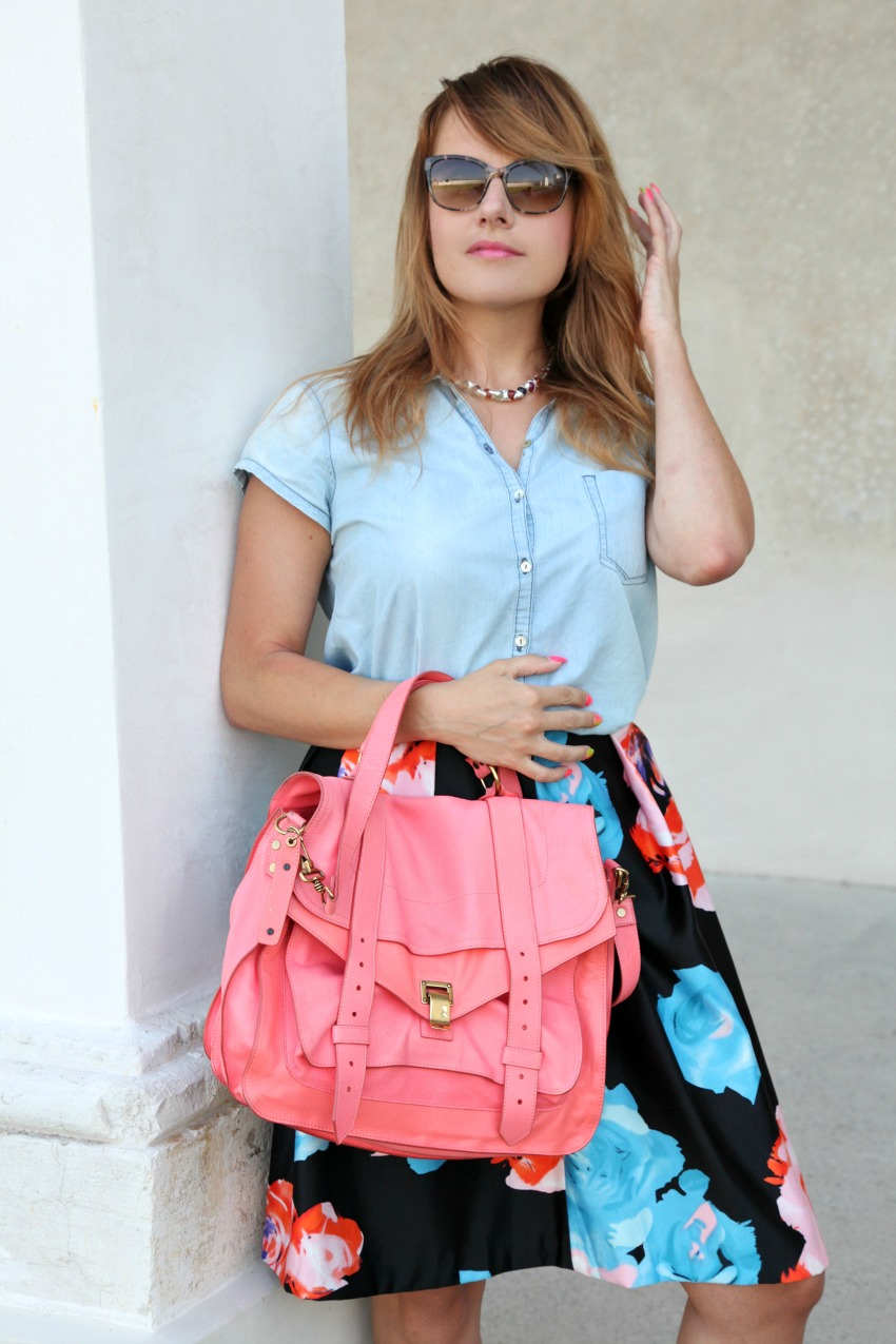 Lunedì, una voce femminile e cenni di fiori, alessia milanese, thechilicool, fashion blog, fashion blogger , proenza schouler bag